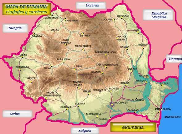Mapa De Rumania Mapa Ciudades Y Carreteras Erumania Rumania