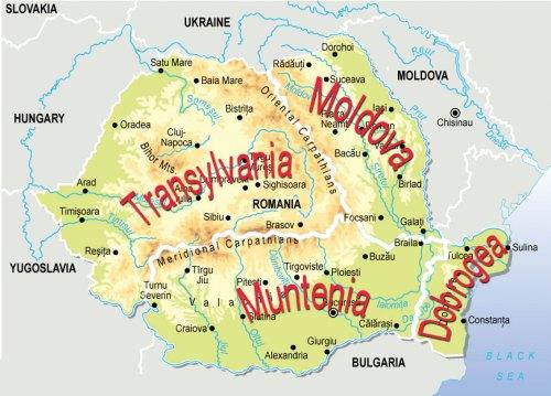 Mapa Provincias Rumania