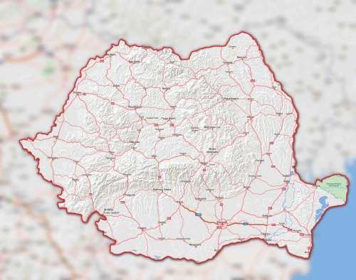 Mapa Rumania, regiones rumanas