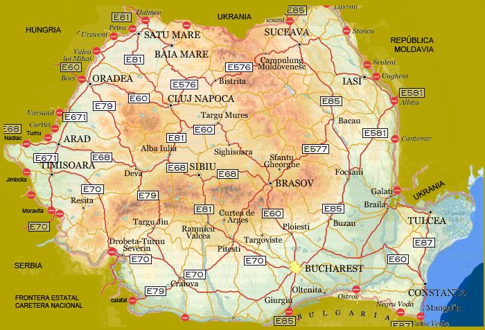 Mapas  Erumania RUMANIA INFORMA