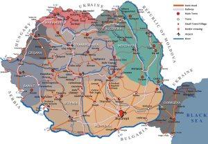 romania map, mapa de los cárpatos meridonales, harta Romaniei si a carpatilor Meridionali