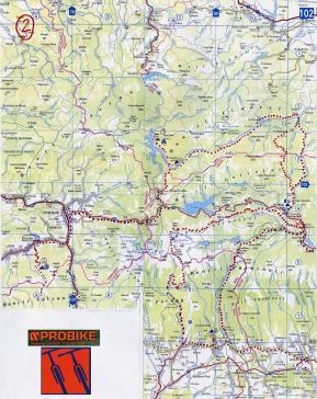 ruta 2, Rumania map, eRumania, ruta por los Cárpatos Meridionales, harta de traseu turistic