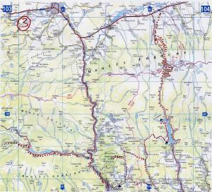 ruta 3, Rumania map, apuseni, harta de ruta 3 prin muntii Apuseni, ruta por los Cárpatos Meridionales, harta de traseu turistic