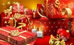 Regalos de navidad, casas llenas del calor navideño. erumania. Rumania.