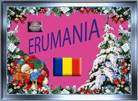 Erumania-de-navidad-con-bandera-de-Rumania,-Romania, navideñas por danadanita79