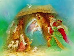 Nacimiento. El niño santo. Craciun