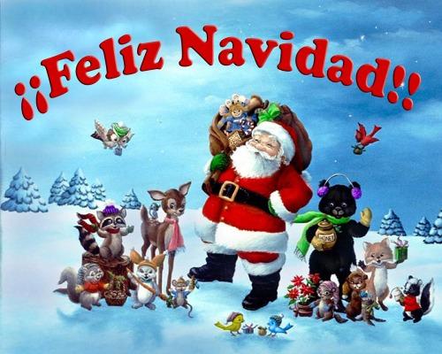 Feliz navidad y papa Noel. fiestas de invierno.
